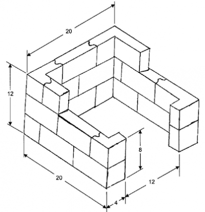 3 Walled Brick Enclosures